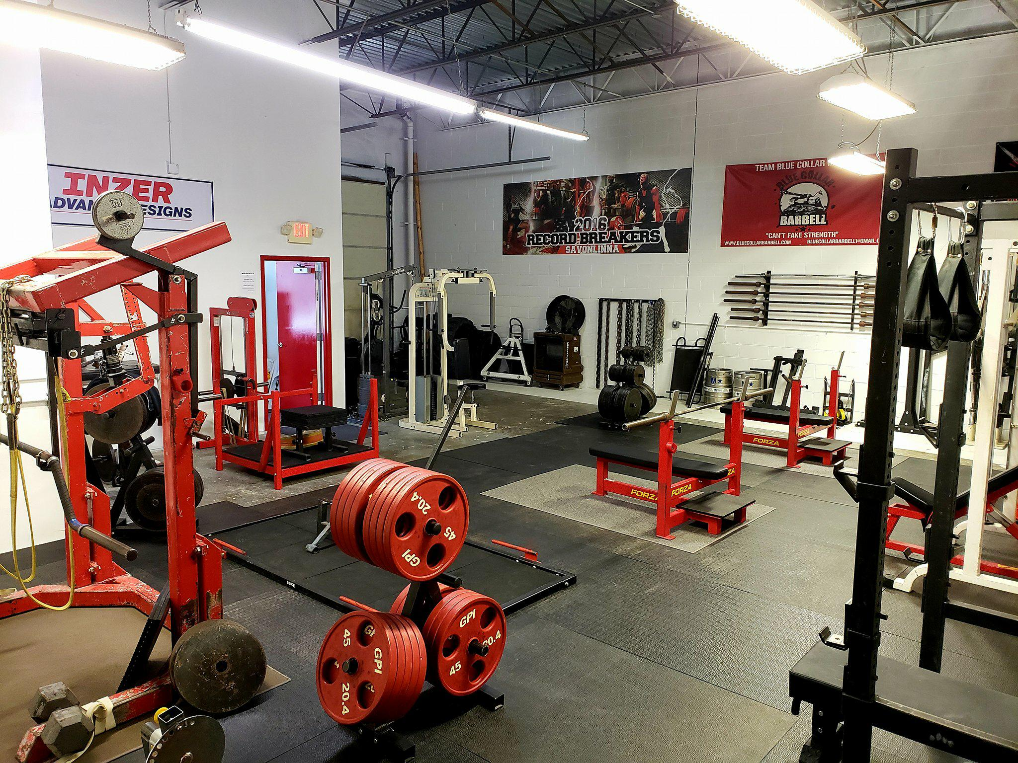 About The Gym Blue Collar Barbell Long Island Powerlifting