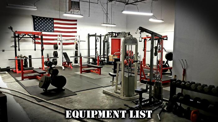 equipment list new strength coach long island