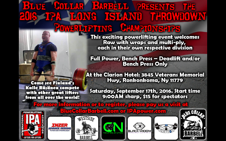 Upcoming Meet – 2016 Long Island Throwdown – September 17th, 2016