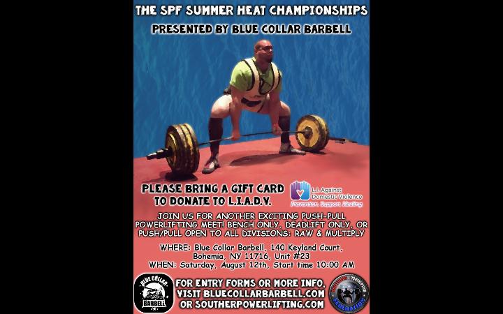 Upcoming Meet – 2017 SPF Summer Heat Championships Push-Pull