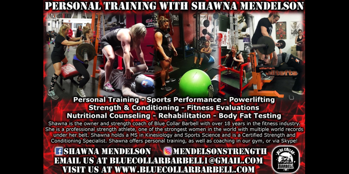 Personal Training with Shawna Mendelson