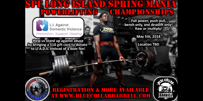 Upcoming Meet: SPF Spring Mania Powerlifting Championships