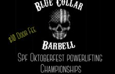 Come join us on Saturday October 13th at 10am for the SPF Oktoberfest Powerlifting Championships.