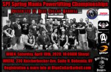 Meet Registration – SPF Spring Mania, April 18, 2020