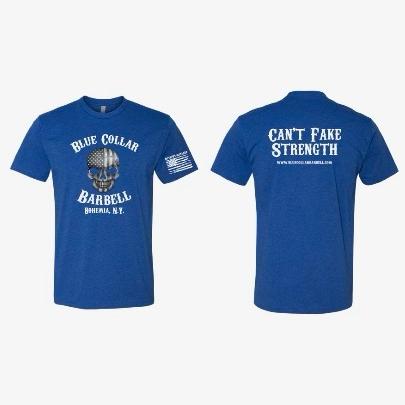 Blue OG Blue Collar Barbell T-Shirt